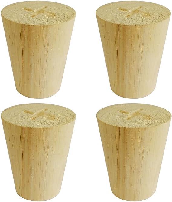 Amazon.com: Btibpse - Juego de 4 patas de madera para ...