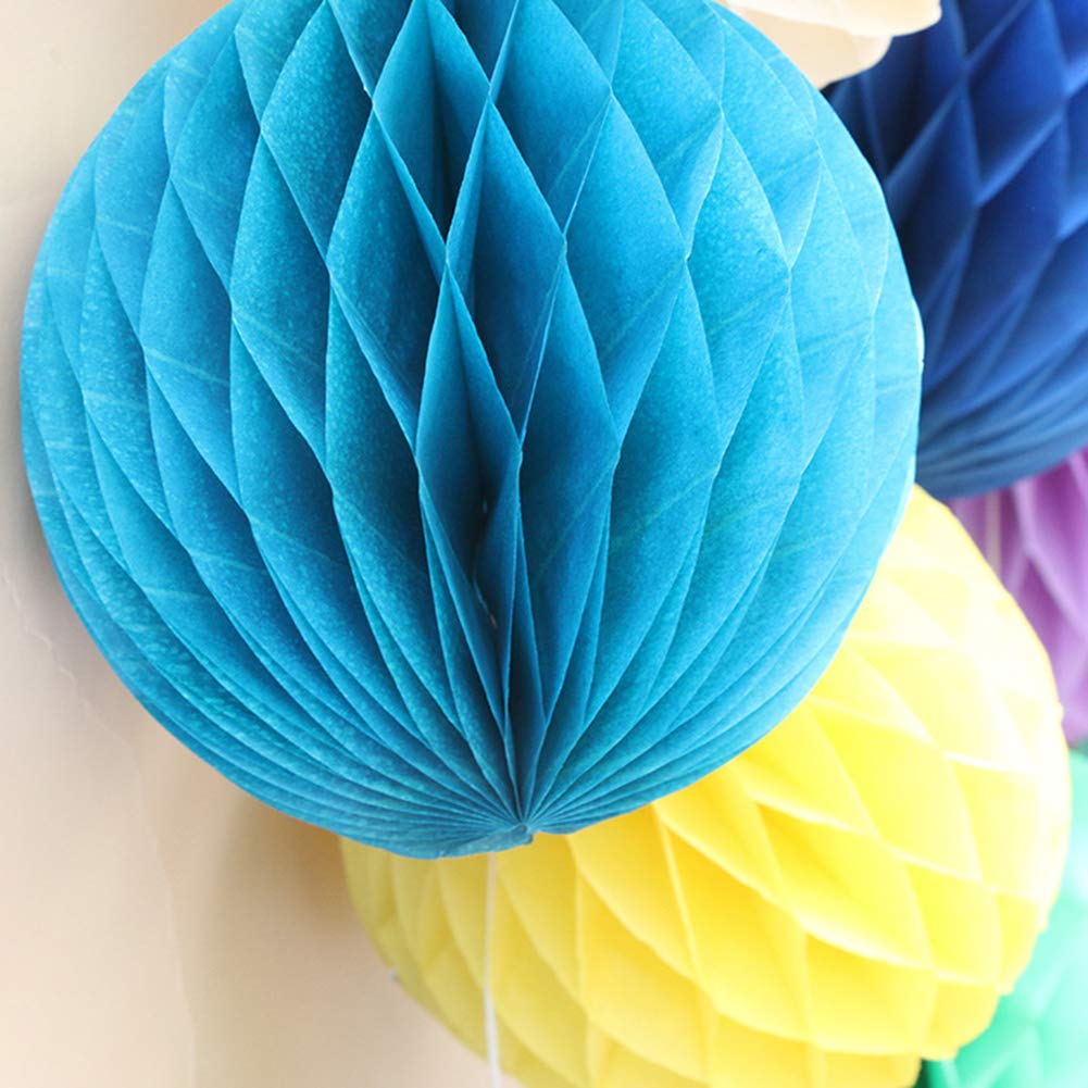 Dds5391 Refined 8/16in Fashion Solid Color Tissue Paper Pompom Ball Hanging Wedding Party Decor - Yellow 16 in by dds5391 (Image #3)