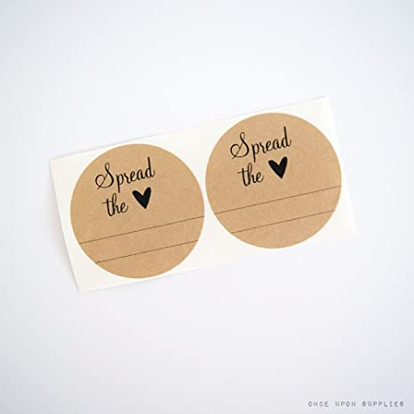 Spread The Love With Blank Lines Round Stickers For Mason Jars By Once Upon Supplies