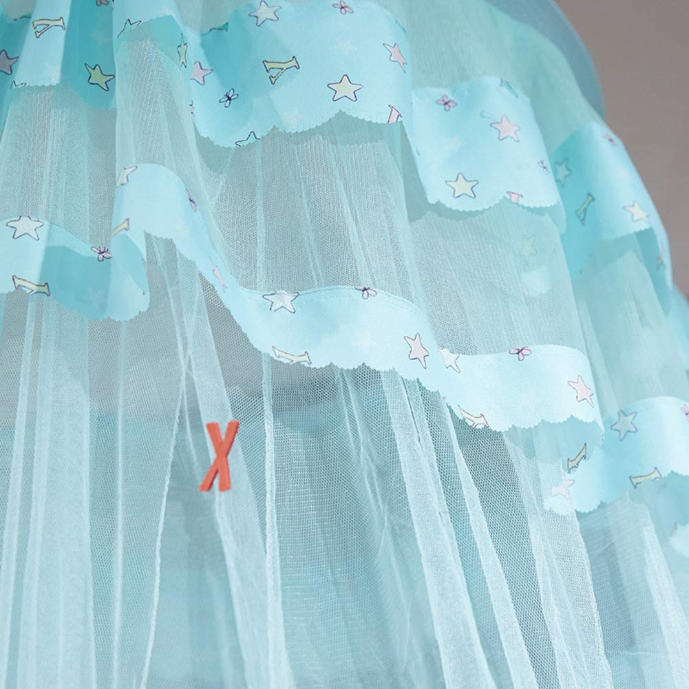 KE & LE Tent Mesh Canopy Curtains with Bottom, Princess Gauze Mosquito Net for Bbaby Indoor Outdoor Play Reading Tent Mesh Canopy Curtains with Bottom Hanging Mosquito Net-a by KE & LE (Image #5)