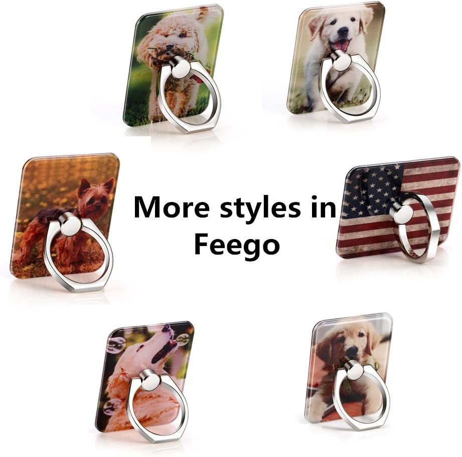 Phone Ring Holder Mount for Smart Phone with Cute Dog Background