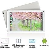 Yuntab D102 10.1 Inch Allwinner A33 Quad Core CPU,Android 6.0 Tablet PC,1G+8GB,HD1024x600, Dual Camera,5500MAh Battery,Bluetooth,WiFi,G-Sensor,Support SD/MMC/TF Card(White)