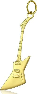 Solid 9ct oro collar de la guitarra eléctrica Gibson Explorer ...