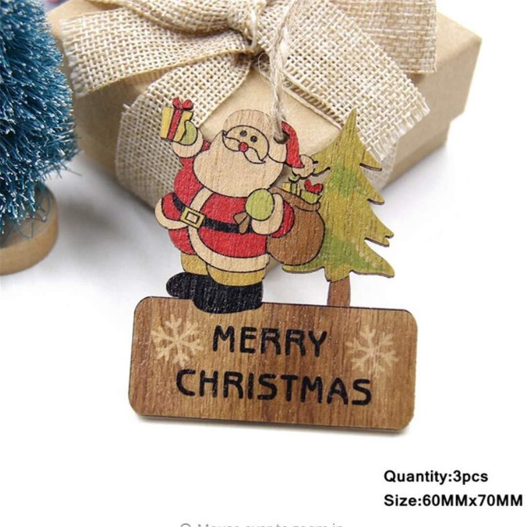 Christmas Wooden Deer Pendants Ornaments DIY Ornaments Xmas Tree Ornaments Kid
