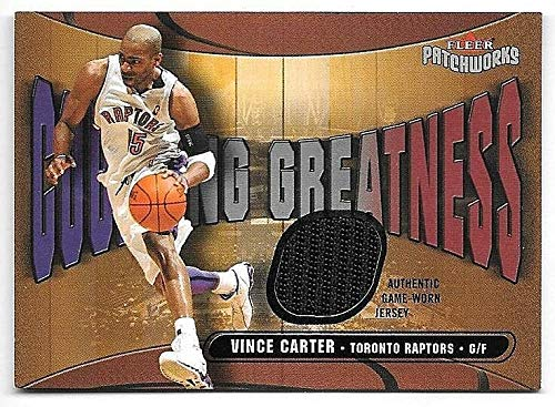 03/04 Fleer Patchworks Courting Greatness #VC Vince Carter Jersey Card #060/350