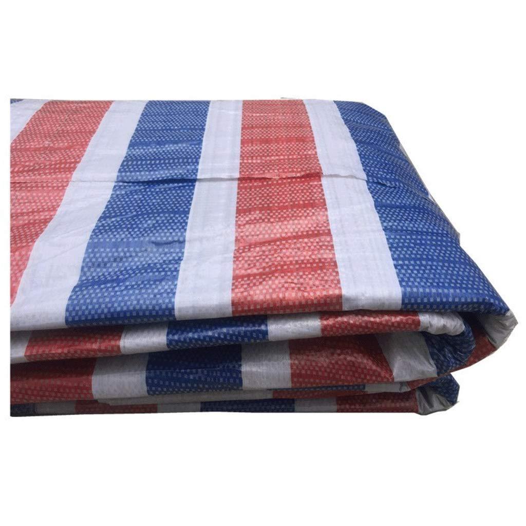 JLZS-Tarpaulin Kunststofftuch Farbe Tuch Plane Dekoration Plane Farbe Streifen Tuch Blaume Plane Schatten Tuch Outdoor DREI-Farben-Papier Regen Tuch (Farbe   DREI Farben, größe   3  30)