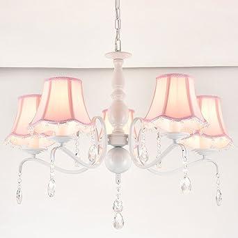 Kronleuchter Mädchen Deckenleuchte Hell Für Prinzessin Zimmer Beleuchtung  (rosa/blau) (Farbe :