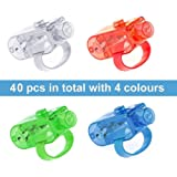 Syolee LED Finger Lights 40pcs Super Bright Finger Flashlight Ideal for Children Birthday Disco Party Bag Fillers