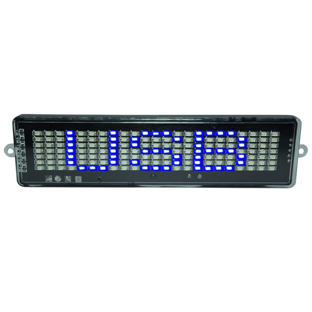 BXI LED Display - DC 5V USB - LED Scrolling Sign - Programmable by Remote Controller - Indoor & Outdoor, Store, Car, Office, Home.(Blue)