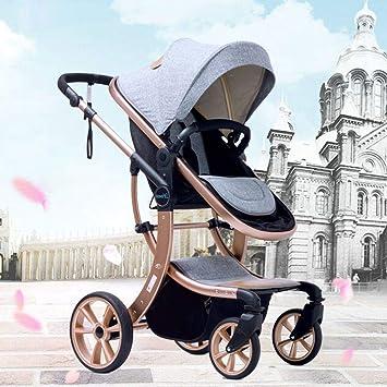 LZTET Cochecito De Bebé Carro De Bebé Recién Nacido Varilla De Empuje De Altura Ajustable 0