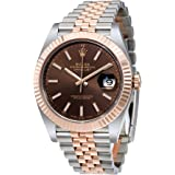 Rolex Datejust Chocolate Dial Steel and 18K Everose Gold Jubilee Mens Watch 126331CHSJ