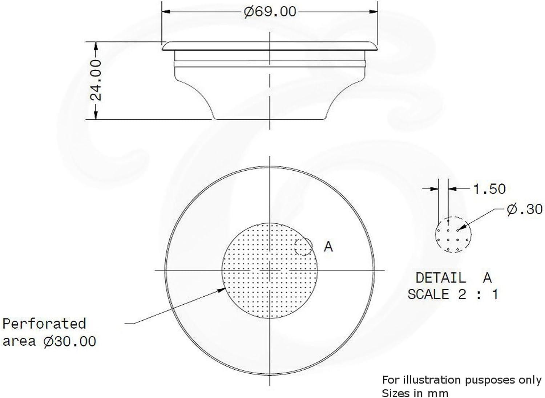 Filtre de rechange pour porte-filtre ROCKET EDESIA ESPRESS 7 g expresso single