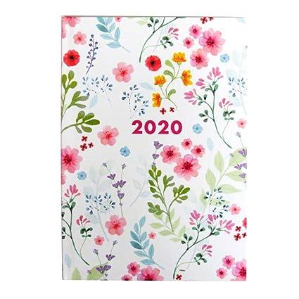 2020 Agenda semanal A5 con diseño de mariposas o flores de ...