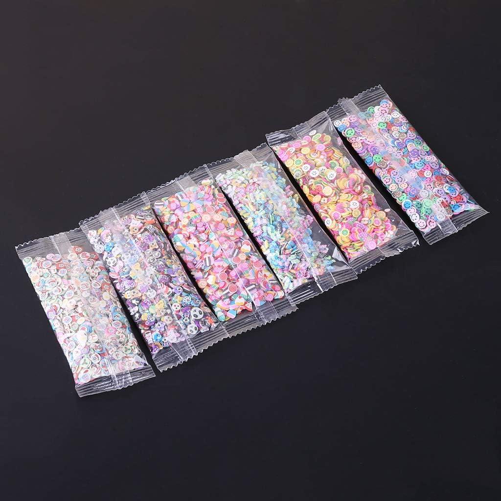 JAGENIE New 1000Pcs Polymer Clay Toy DIY Fruit Slime Accessories Jelly Mud Hand Gum B