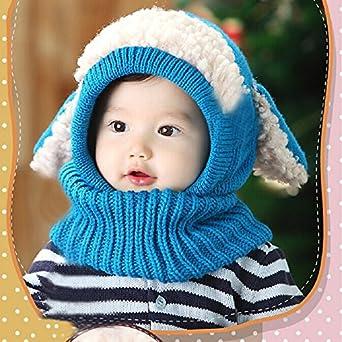 Sannysis Winter Baby Kids Girls Boys Warm Woolen Coif Hood Scarf Caps Hats
