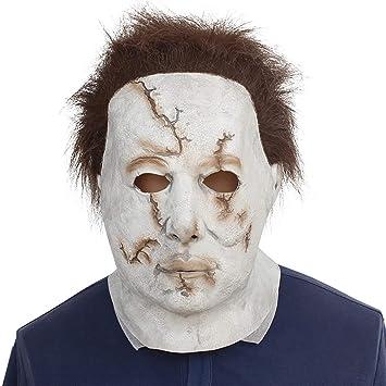 Halloween Mcmillan Máscara Película Blanco Cara Horror Cicatrices Látex Meyer Sombrero para Fiesta De Disfraces