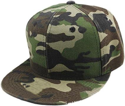 Tongshi Hip gorra de b/éisbol Hombres Mujeres camuflaje Hop Cap Hat Dance Verde