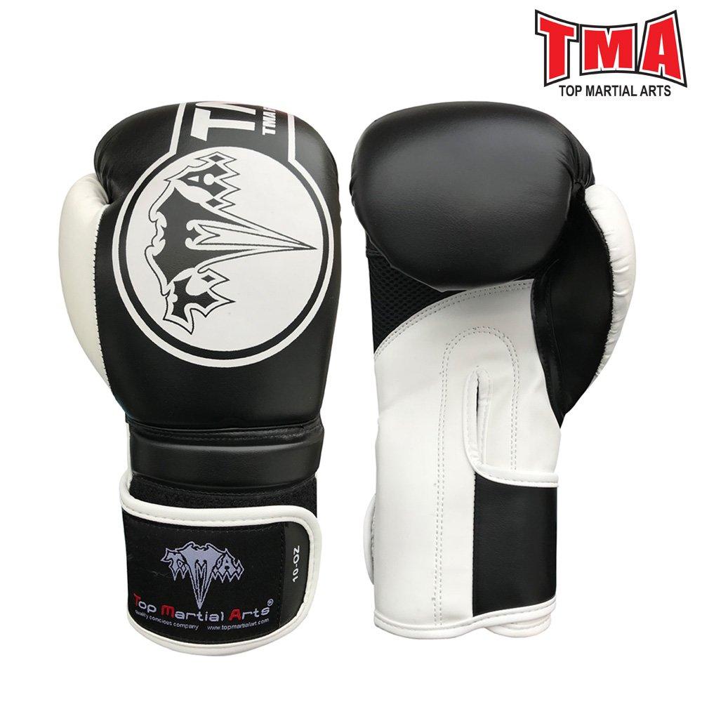 TMAボクシンググローブレザートレーニングFight FitnessスパーリングMMA Muay Thai B078ZLQQ6Z  16 oz