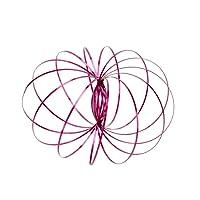 Anelli di flusso Kinetic Spring Toy 3D Anello di flusso a forma di stress in acciaio inox Grande regalo di divertimento creativo per bambini e adulti (Rose)