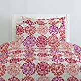 Carousel Designs Coral Modern Mosaic Duvet Cover Twin Size - Organic 100% Cotton Duvet Cover - Made in The USA
