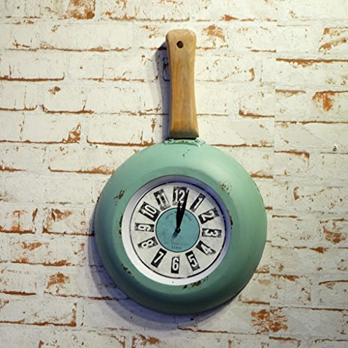 HAOFAY Modern Design Retro Old Ideas Mute Wall Clock Household Pan Modeling Decoration Quartz Clocks by CLOCK