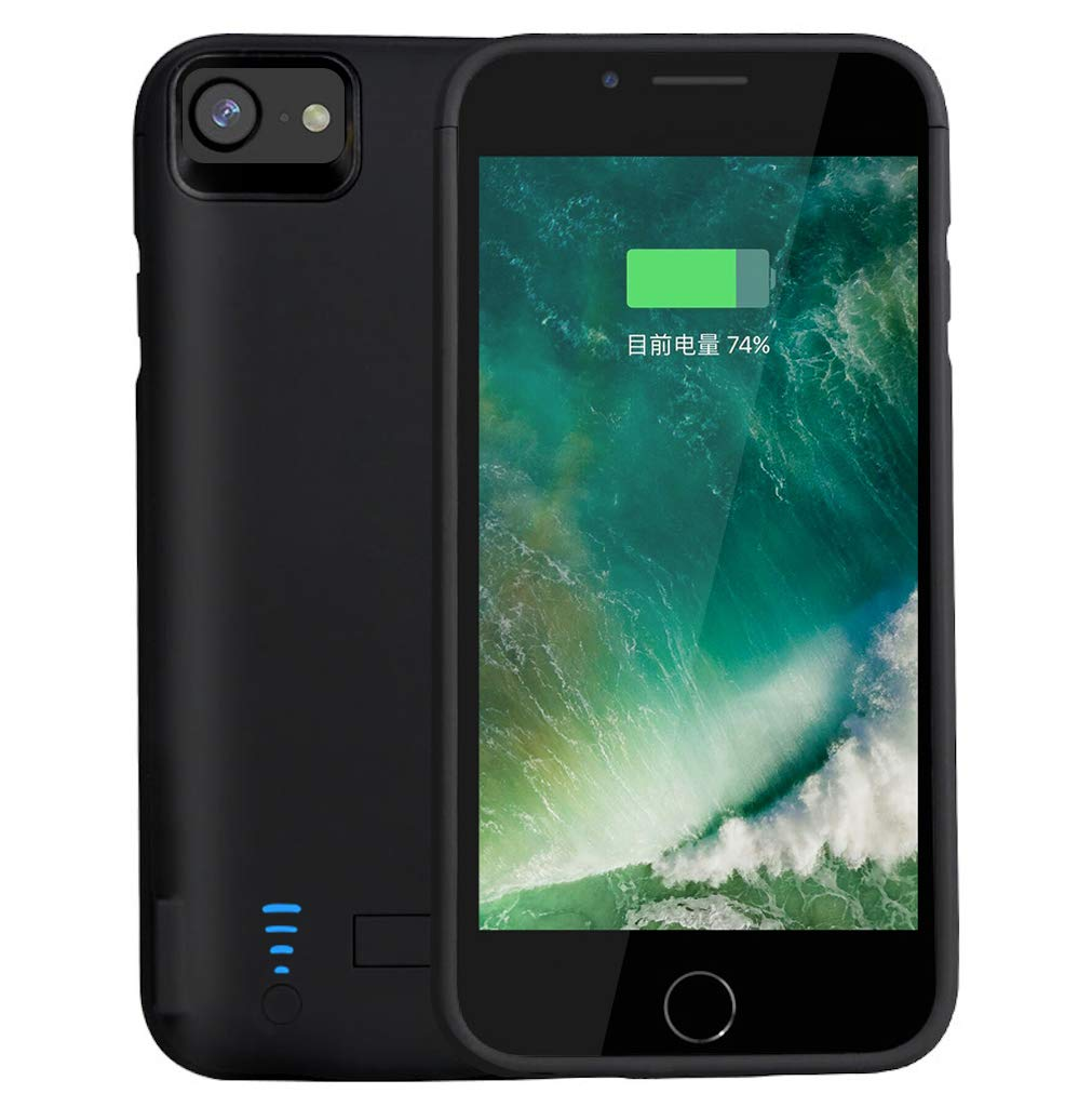 RUNSY Battery Case Compatible with iPhone 7 Plus / 6S Plus / 6 Plus, 8200mAh Rechargeable Extended Battery Charging Case, External Battery Charger Case, Backup Power Bank Case (5.5 inch) Roger Electronics runsy-iphone7/6s/6plus-8200b