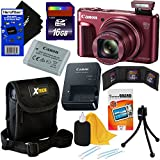 Canon PowerShot SX720 HS 20.3 MP Wi-Fi Digital Camera with 40x Optical Zoom & HD 1080p video (Red) + 9pc 16GB Accessory Kit w/ HeroFiber Gentle Cleaning Cloth