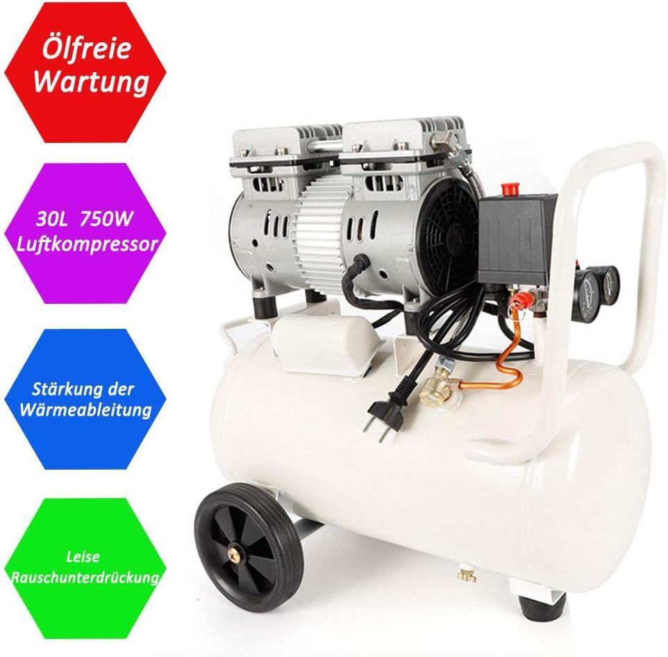 SENDERPICK Compresseur /à air comprim/é 850 W 35 l air comprim/é sans s/èche-linge Sans huile Dents Ollos silencieux avec manom/ètre