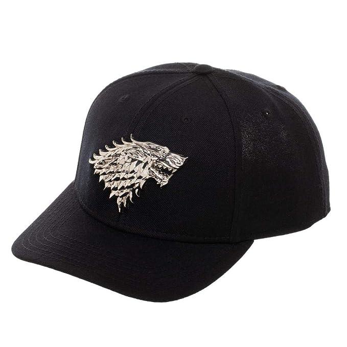 931cc10ee67fd Amazon.com  Game of Thrones House Stark Direwolf Logo Snapback Hat ...
