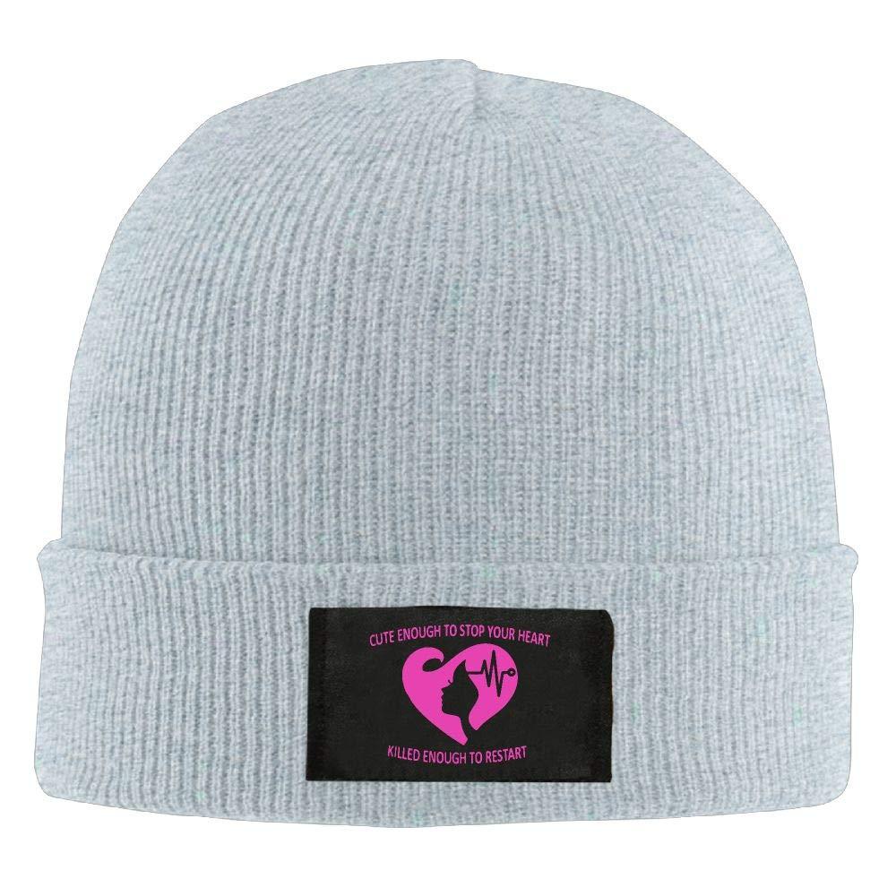 DLOAHJZH-Q Adult Unisex Pinky Hairdress Heartbeats Outdoor Wool Cap