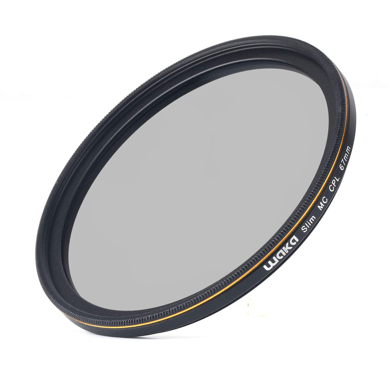waka 52mm Circular Polarizing Filter Ultra Slim 16 Layers MRC CPL Glass Polarizer Filter for Canon Nikon Sony DSLR Cameras Lens