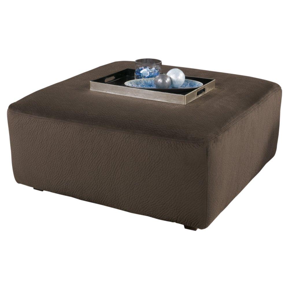 Ashley Furniture Signature Design - Jessa Place Oversized Accent Ottoman - Contemporary Fabric Upholstery - Chocolate