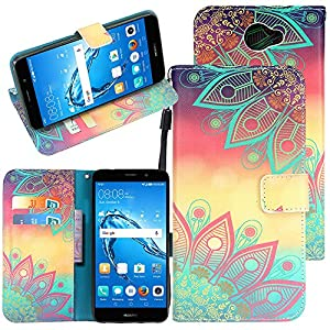 Huawei Ascend XT 2 Case, Huawei Elate 4G LTE Case, CimdaUS PU Leather Wallet Flip Case with Kickstand Feature Card Slots & Wrist Strap and Magnetic Closure for Huawei Ascend XT2 H1711