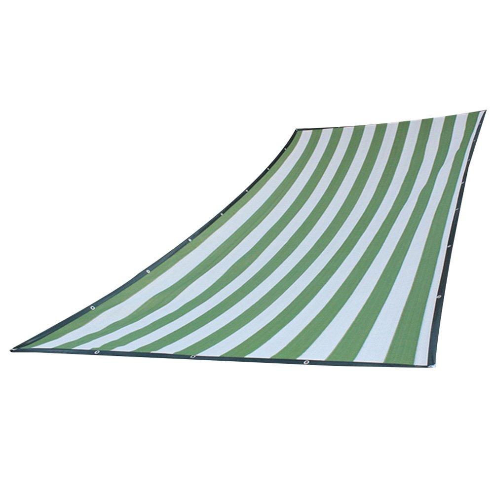HAIPENG Schattierungsnetz Schatten Netting Verschlüsselte Mesh Verdicken Polyethylen Plane Wärmeisolierung Schwerlast Antialterung Angepasst (Farbe   Grün+Weiß, größe   3x6m)