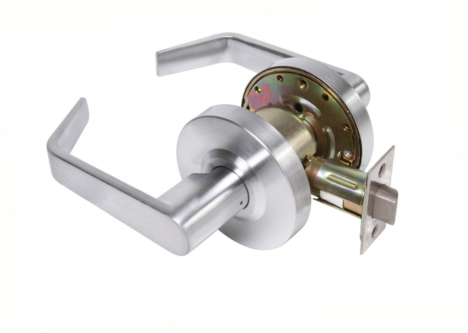 Dynasty Hardware AUG-30-26D Grade 2 Commercial Duty Passage Lever, ADA, Satin Chrome Finish