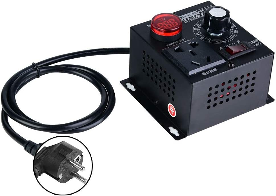 EU Specification LetCart Regulador de Voltaje SCR-AC 220V 4000W Regulador de Velocidad del Ventilador del Motor Dimmer