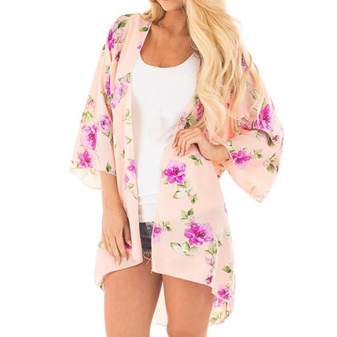 Blusa de Mujer Cubierta,Blusa de Mujer con Estampado de Flores Blusa Tops Bikini