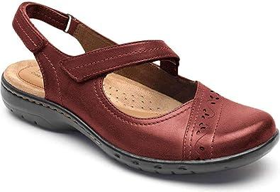 Choose SZ//color Cobb Hill Women/'s Abbott Curvy T Sandal Black Lea