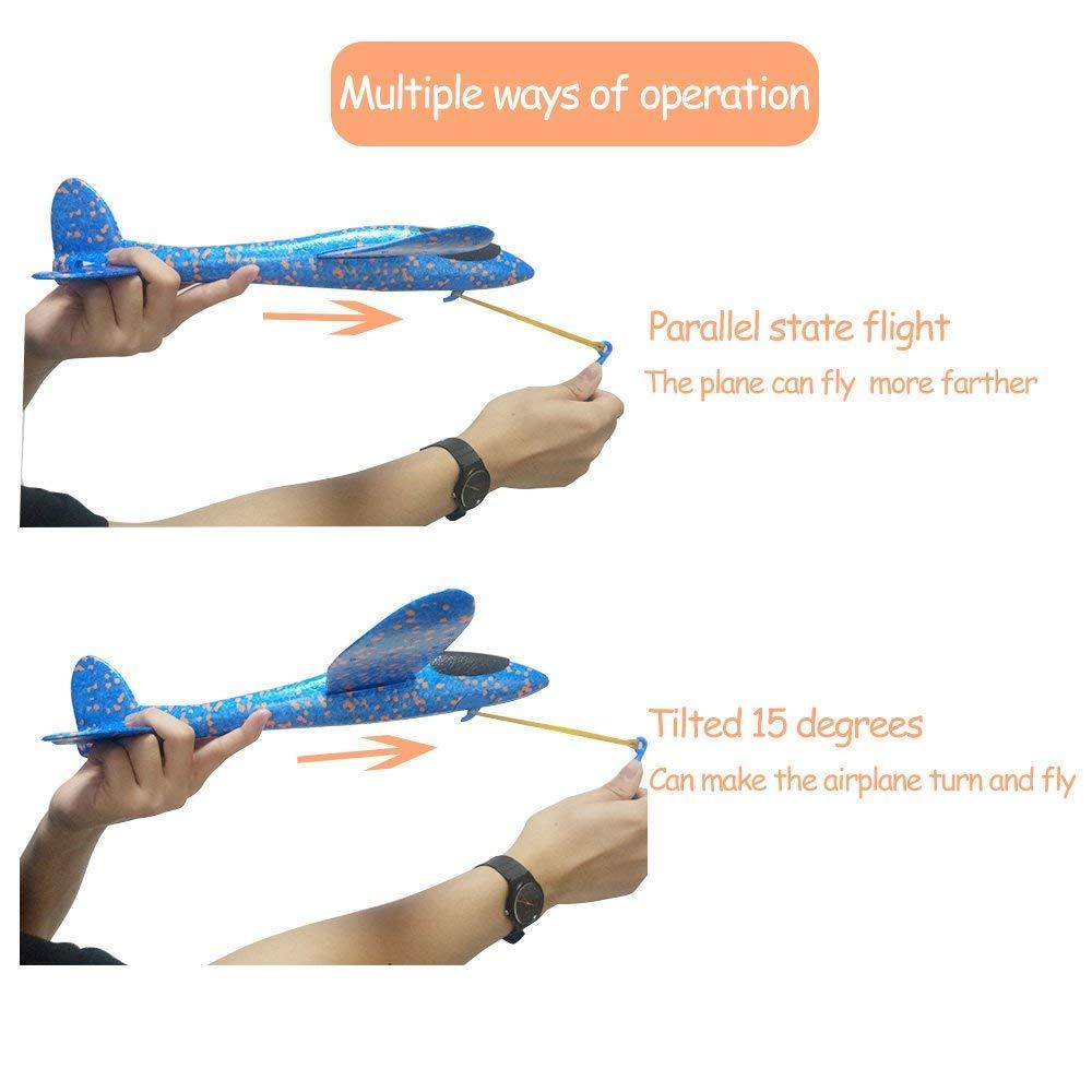 Orange Mattelsen Avi/ón Planeador EPP Espuma Avion de Juguete Lanzamiento de Mano Modelo Creativa Lanzar el Avi/ón Volador Planeador de Juguete para Ni/ños