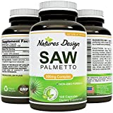 Saw Palmetto Extract Berry - Hair Loss Treatment For Hair Growth For Women And Men - Prostate Supplement with Beta Sitosterol - DHT Blocker - Natural Acne Skin Care - 500 mg By Nature's Design