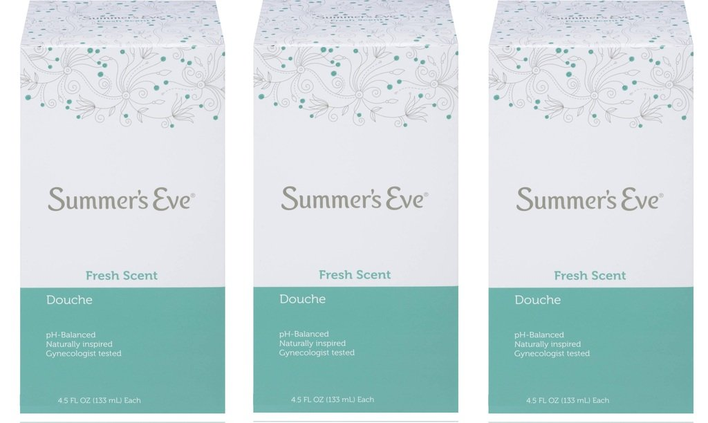 (Pack of 3 Bottles) Summer's Eve Fresh Scent Douche Vinegar & Water, Feminine Wash, 4.5oz Bottles. PH Balanced, Naturally Inspired, Gynecologist Tested (Pack of 3 Bottles, 4.5oz Each Bottle)