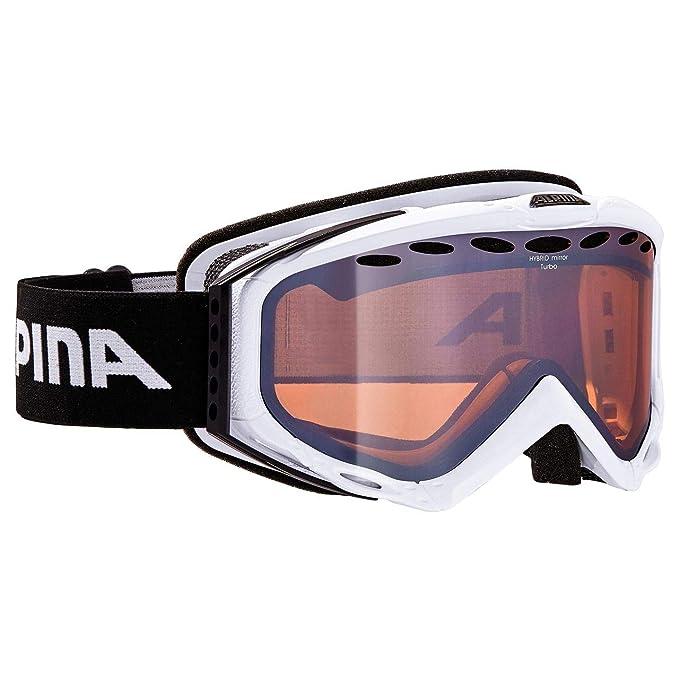 ALPINA Turbo HM - Gafas de esquí White Hybrid Mirror Naranja ...