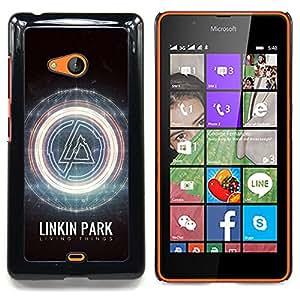"""Qstar Arte & diseño plástico duro Fundas Cover Cubre Hard Case Cover para Nokia Lumia 540 (L1nkin Parque"""")"""