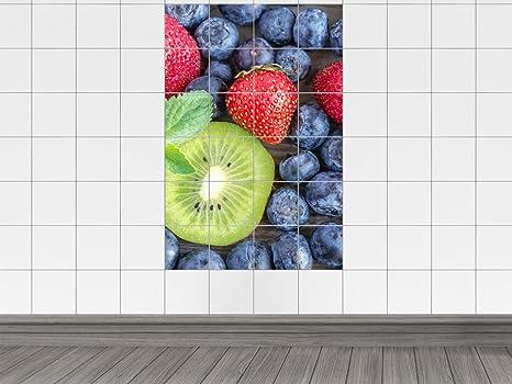 Piastrelle adesivo piastrelle immagine frutta fragola kiwi prugne