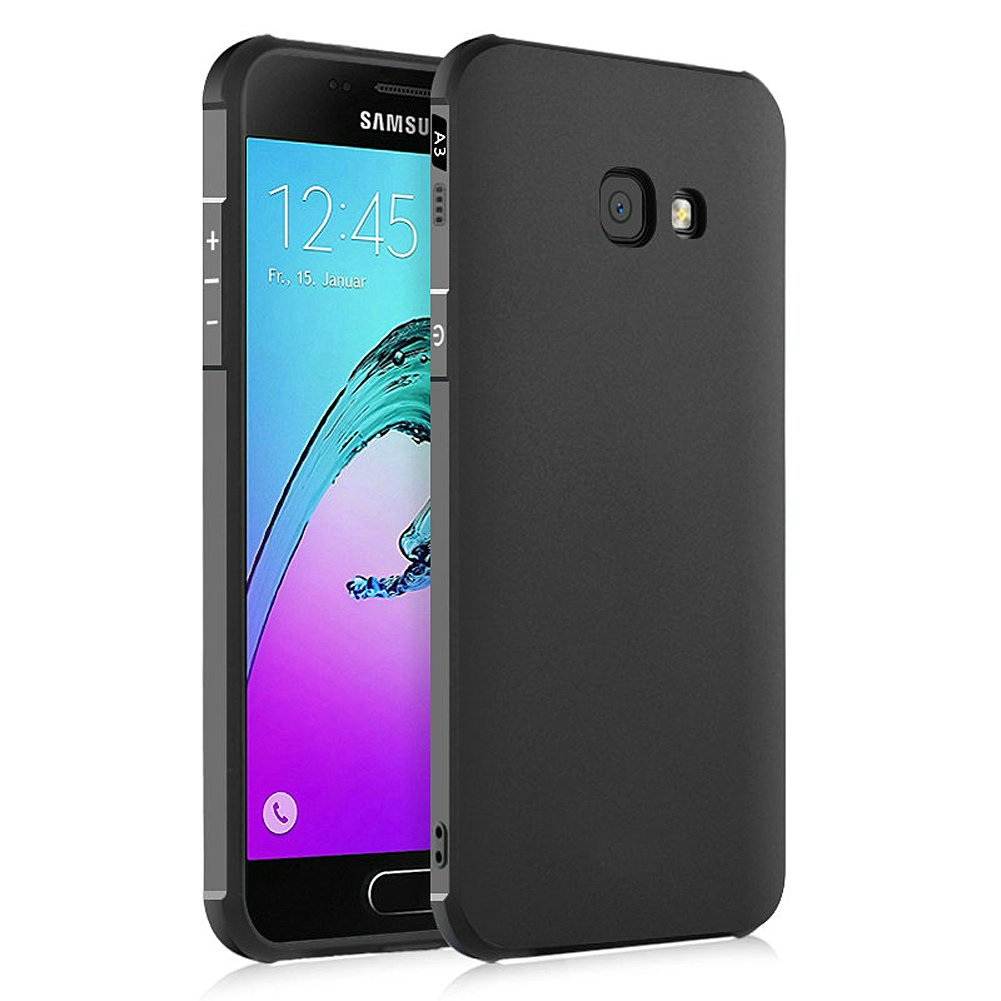 Hevaka Blade Samsung Galaxy A3 2017 Funda - TPU Carcasa Smart Case Cover Para Samsung Galaxy A3 2017 - Negro