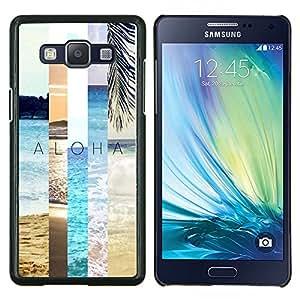 Été - Metal de aluminio y de plástico duro Caja del teléfono - Negro - Samsung Galaxy A5 / SM-A500