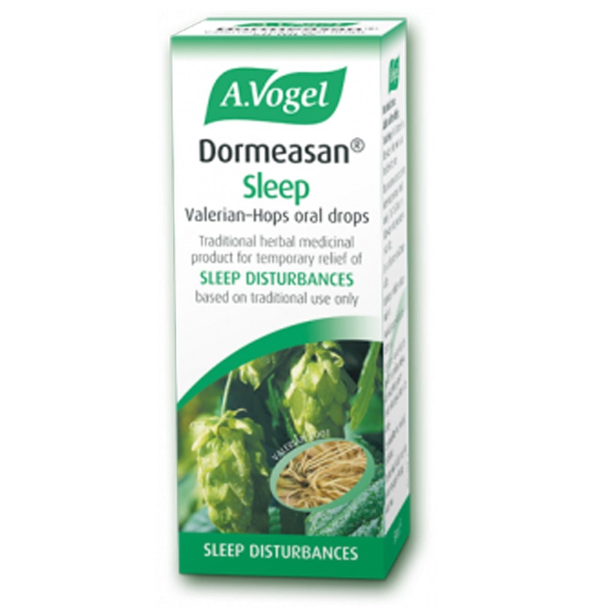 A. Vogel Dormeasan Valerian-Hops Herbal Sleep Remedy With Extracts of Freshly Harvested, Organically Grown Valerian Root and Hops, 50ml (Pack of 2)