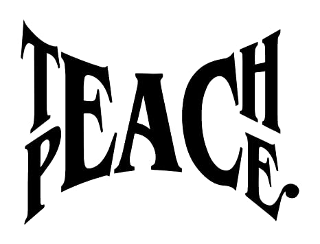 Peace Quotes Wall Decal Black High Quality Vinyl Decal The Best Teaching  Strategy
