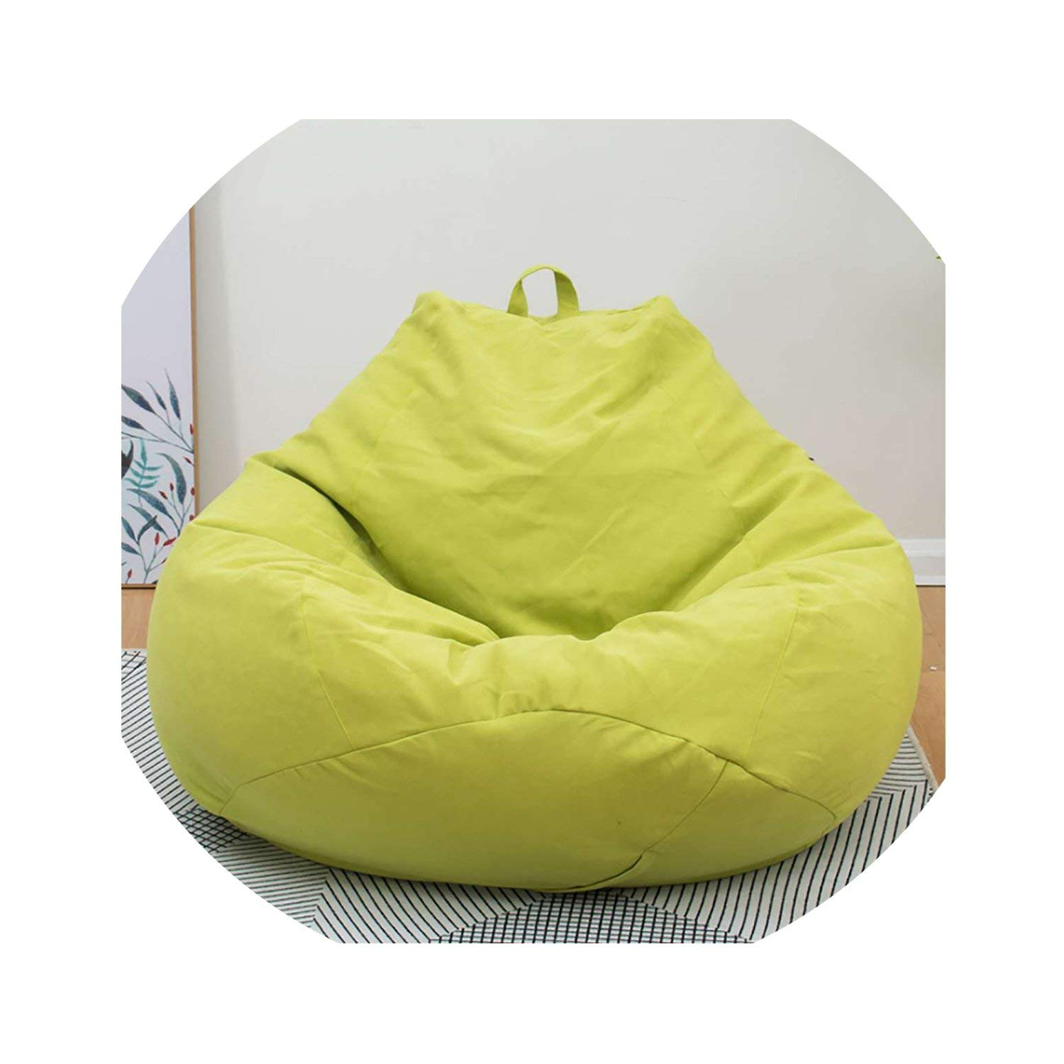 Amazon.com: Lazy BeanBag Sofas Cover Chairs Without Filler ...