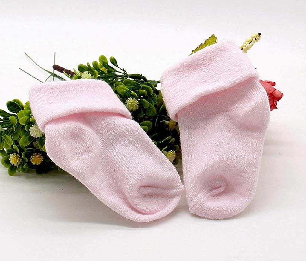 FeiliandaJJ Baby Baumwollsocke Bequeme Nette Kinder Warme Socken Einfarbig Socken f/ür 0~12 Monate